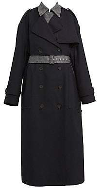 Rokh Women's Double-Layer Trench Coat