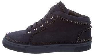 Louis Leeman Spiked Round-Toe Sneakers