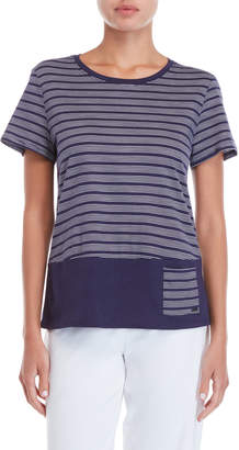 Nautica Striped Pocket Hem Tee