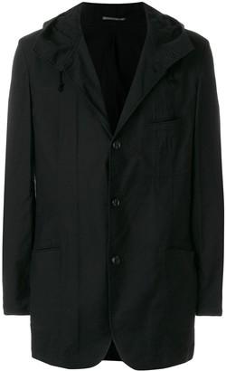 Yohji Yamamoto hooded shirt jacket