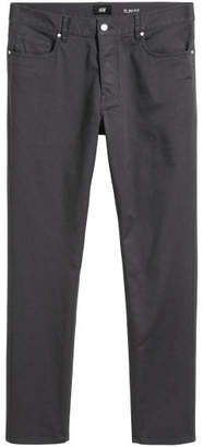 H&M Twill Pants Slim fit - Gray