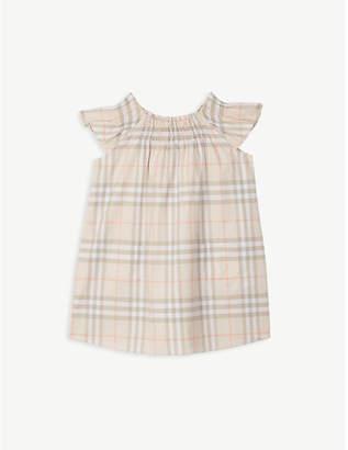 Burberry Vintage check frilled cotton dress 6-24 months