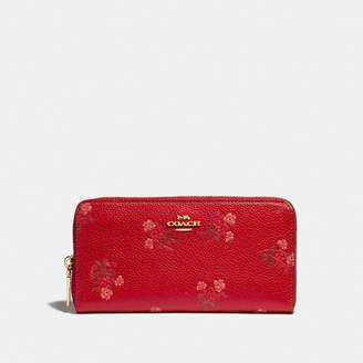 Coach Lunar New Year Accordion Zip Wallet With Floral Bow Print
