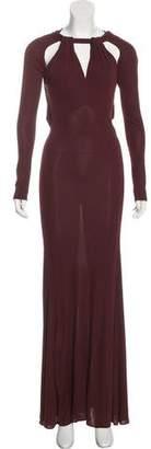 Just Cavalli Long Sleeve Maxi Dress