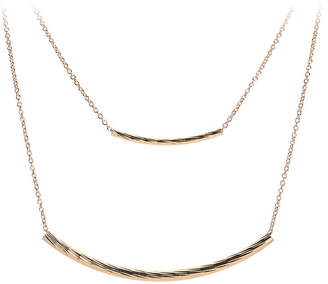 Kelly & Katie Textured Dual Bar Layered Necklace - Women's