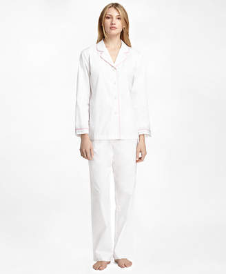 Brooks Brothers Cotton Long-Sleeve Pajama Set
