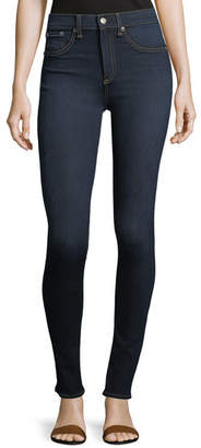 Rag & Bone High Rise Skinny Jeans, Dark Blue