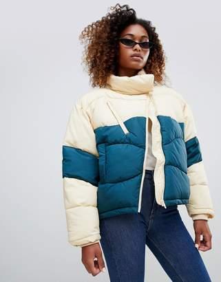 Weekday Short Color Block Padded Jacket