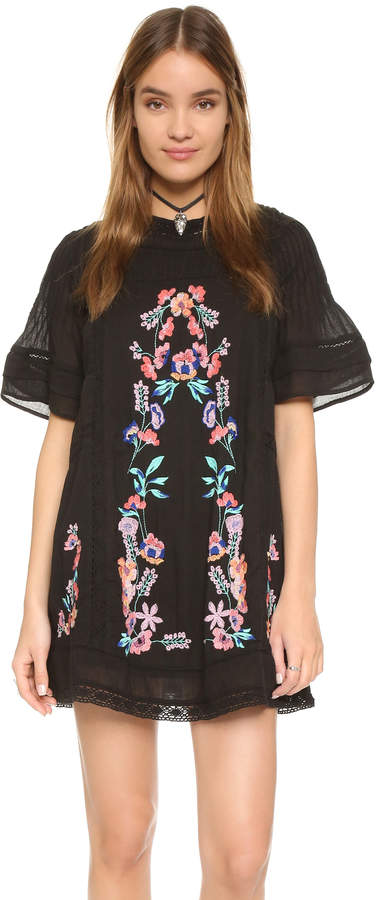 Free People Perfectly Victorian Embroidered Mini Dress 17