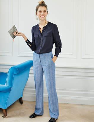 Boden British Tweed Wide Leg Pants