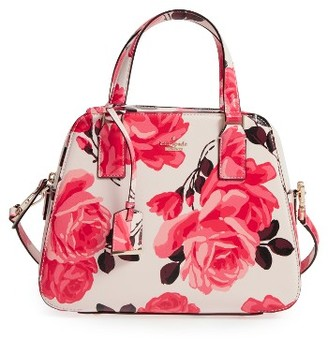 Kate Spade New York Cameron Street Roses - Little Babe Leather Satchel - Pink $278 thestylecure.com