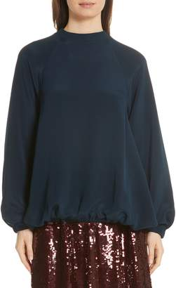Tibi Silk Sweatshirt