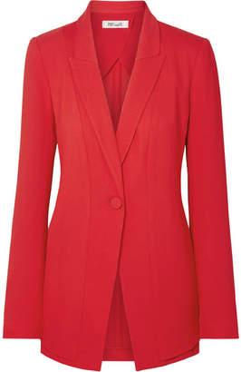 Diane von Furstenberg Stretch-crepe Blazer - Red
