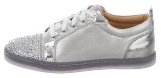 Christian Louboutin Strass Cap-Toe Sneakers