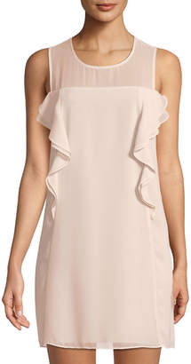 BCBGeneration Ruffled Chiffon Mini Dress
