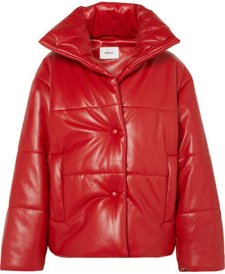 Nanushka - Hide Oversized Quilted Vegan Leather Jacket - Red