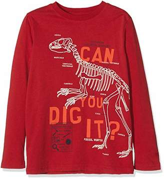 Fat Face Boy's NHM CAN You DIG IT Long Sleeve Top, (Cherry Red), Years (Size: 4-5)