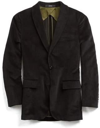 Todd Snyder Black Label Black Label Shawl Collar Velvet Sportcoat in Black