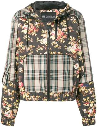 Han Kjobenhavn check flower jacket