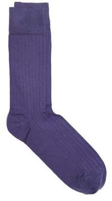 Corgi Solid Dress Socks in Purple