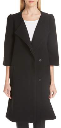 Co Crop Sleeve A-Line Coat