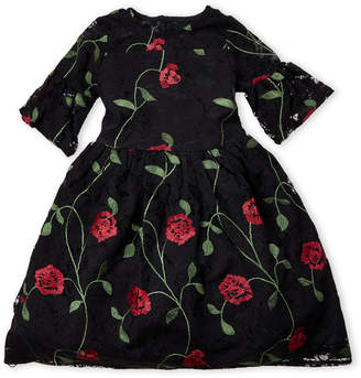 Pippa & Julie (Toddler Girls) Rose-Embroidered Lace Dress