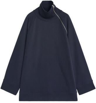 Arket High-Neck Oversized Sweatshirt