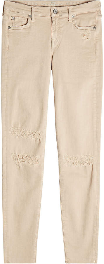 7 For All Mankind Distressed Skinny Jeans