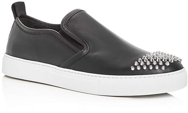 McQ Men's Chris Studded Leather Slip-On Sneakers