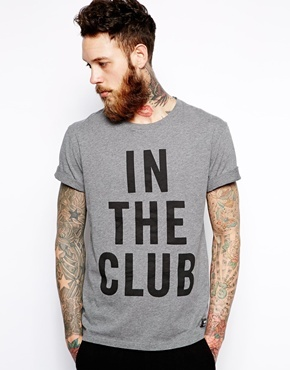 Wood Wood T-Shirt In The Club - Gray
