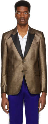 Givenchy Gold and Black 4G Blazer