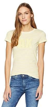 Armani Exchange A X Women's Striped T-Shirt with Logo