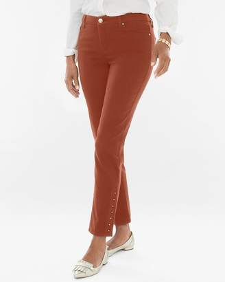 So Slimming Button-Hem Girlfriend Ankle Jeans
