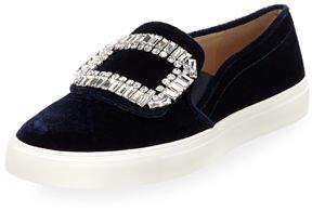 Karl Lagerfeld Paris Ermine Velvet Embellished Sneakers