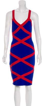 Alexander McQueen Sleeveless Bandage Dress