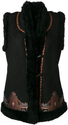 Etro embroidered gilet jacket