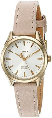 Timex Women's Chesapeake Quartz Brass and Leather Dress Watch, Color:Brown (Model: TW2P820009J) $57 thestylecure.com