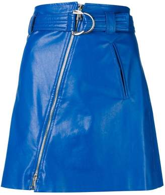 Pinko faux leather mini skirt