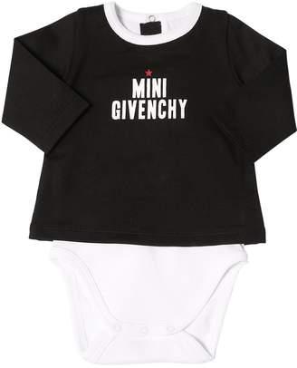 Givenchy Logo Printed Cotton Jersey Bodysuit