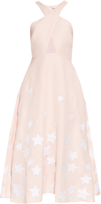 MARA HOFFMAN Star-embroidered cross-front midi dress $615 thestylecure.com