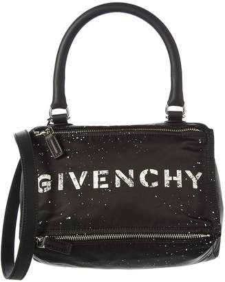 Givenchy Small Stencil Pandora Nylon & Leather Shoulder Bag