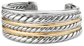 David Yurman Pure Form Cuff Bracelet with 18K Gold