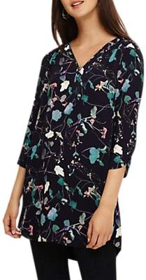 Phase Eight Pearly Floral Tunic, Navy/Multi