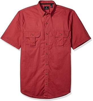 G.H. Bass & Co. Men's Size Big Short Sleeve Solid Pigment Dyed Shirt
