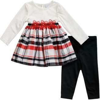 Youngland Baby Girl Plaid Dress & Leggings Set