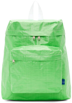 Comme des Garcons Green Poly Small Backpack