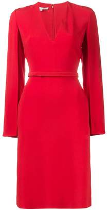 Stella McCartney V neck split sleeve midi dress
