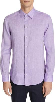Emporio Armani Slim Fit Linen Sport Shirt