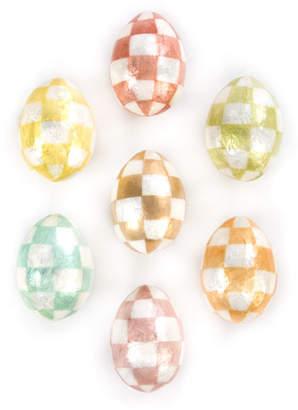 Mackenzie Childs MacKenzie-Childs Cream Eggs, Set of 7