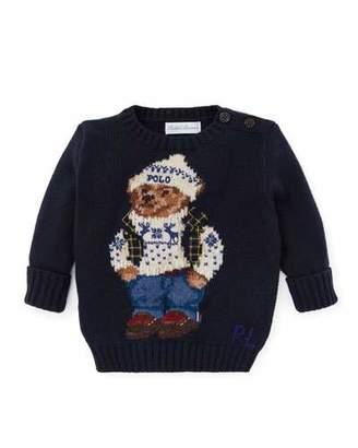 Ralph Lauren Cotton Bear Sweater, Size 6-24 Months